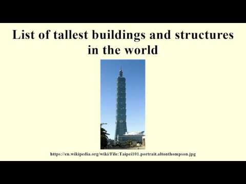 List of tallest buildings and structures in the world