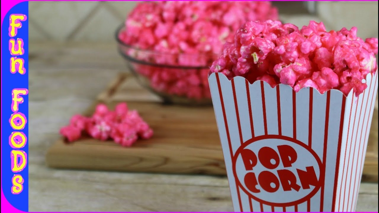 Bubble Gum Popcorn How To Make Candy Popcorn Youtube