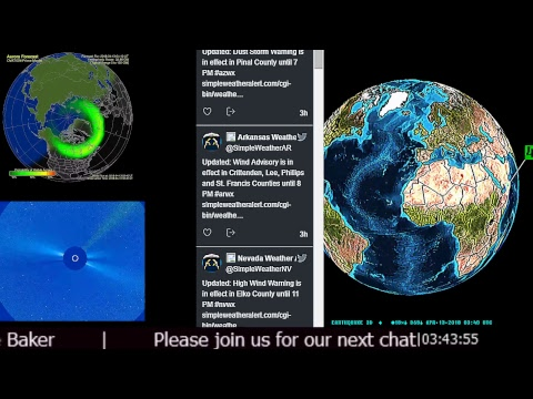 News Earthquakes Space Weather Storm Warnings Tornado Watches
