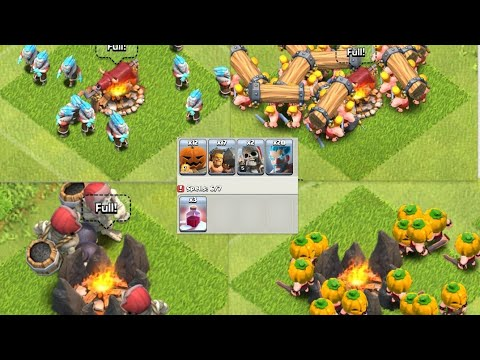 WHAT HAPPENS WHEN YOU USE ALL LIMITED EDITION TROOPS(CLASH OF CLANS)