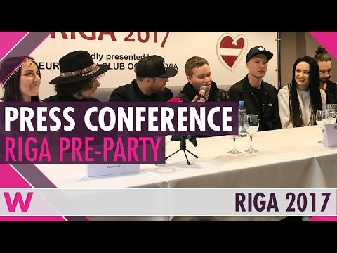 Eurovision Pre-Party Riga 2017: Press conference