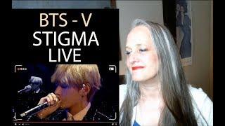 Voice Teacher  Reaction to BTS - V Stigma Live