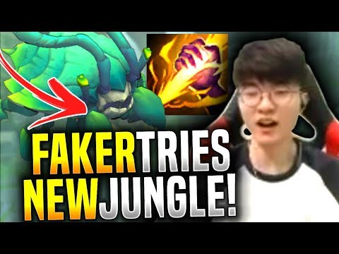 Faker Learning How to Play in the New Jungle! - SKT T1 Faker Picks Camille Jungle!   SKT T1 Replays