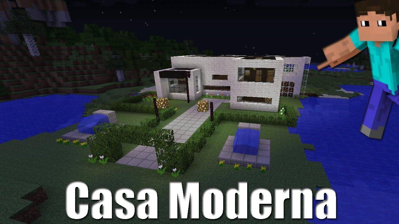 Mi nuevas casa linda moderna en minecraft vegetta777 for Casa moderna en minecraft