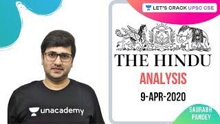 9-Apr-2020 | The Hindu Newspaper Analysis | Current Affairs for UPSC CSE 2020/2021 | Saurabh Pandey