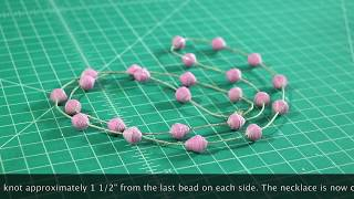 How to make a duct tape bead necklace