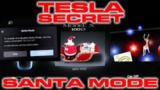 Watch Tesla's Secret Santa Mode!  Easter Egg with Icy Roads, Reindeer, Jingle Bells and More