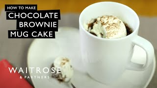 Chocolate Brownie Mug Cake | Waitrose