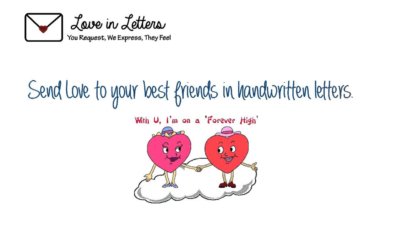 Love in letters Friendship day  YouTube