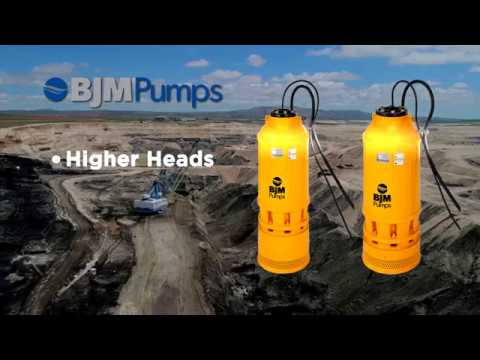 Hard Metal Submersible Slurry Pumps for the Mining Industry - BJM Pumps