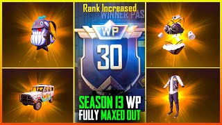 PUBG Mobile lite Season 13 Winner Pass FULL 30 WP MAXED OUT | Pubg lite season 13 Winner Pass