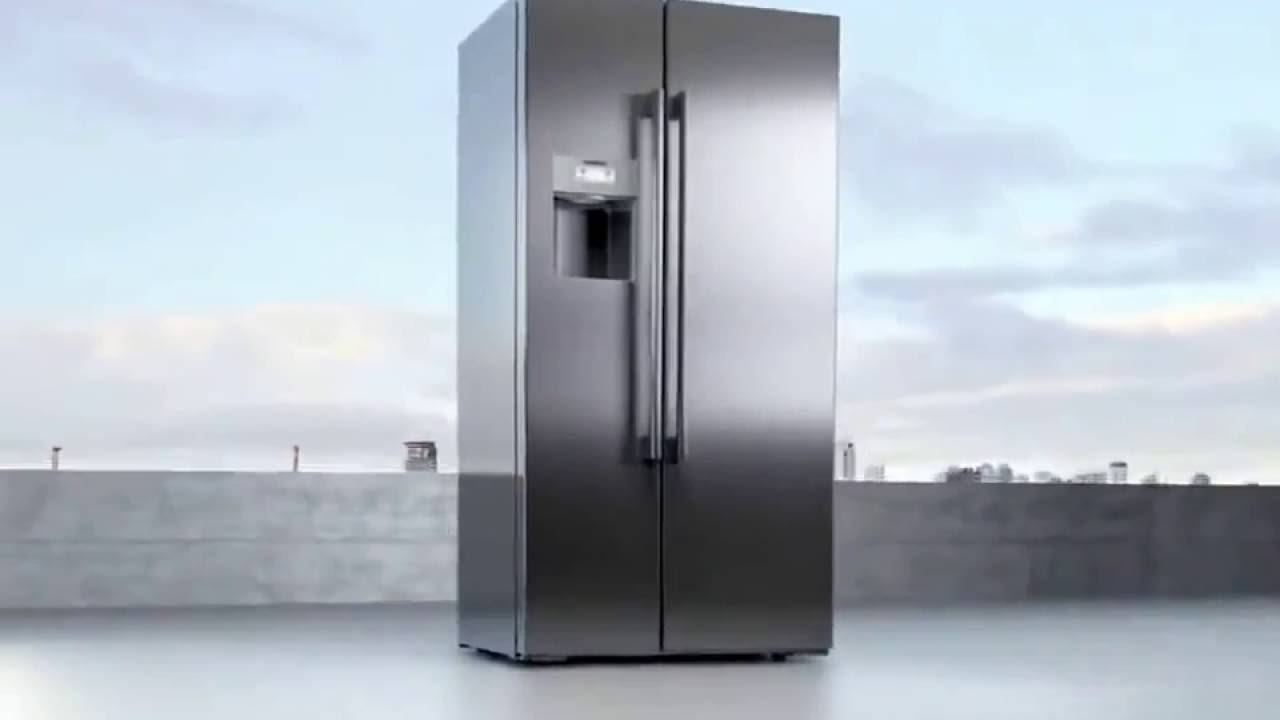 siemens coolduo side by side refrigerator youtube. Black Bedroom Furniture Sets. Home Design Ideas