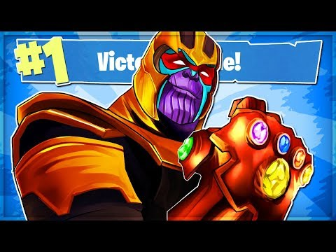 THANOS Is UNSTOPPABLE In Fortnite: Battle Royale! (Infinity Gauntlet Gameplay)
