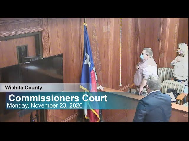 Commissioners Court 11/23/2020