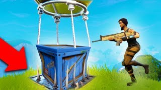 LEGENDARY SUPPLY DROP TRAP! | Fortnite Battle Royale