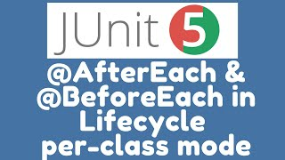 @BeforeEach and @AfterEach methods in Lifecycle per_class mode