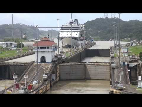 Panama Canal from Caribbean Sea to Pacific Ocean