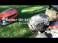 Kohler Oil Leak STOPPED