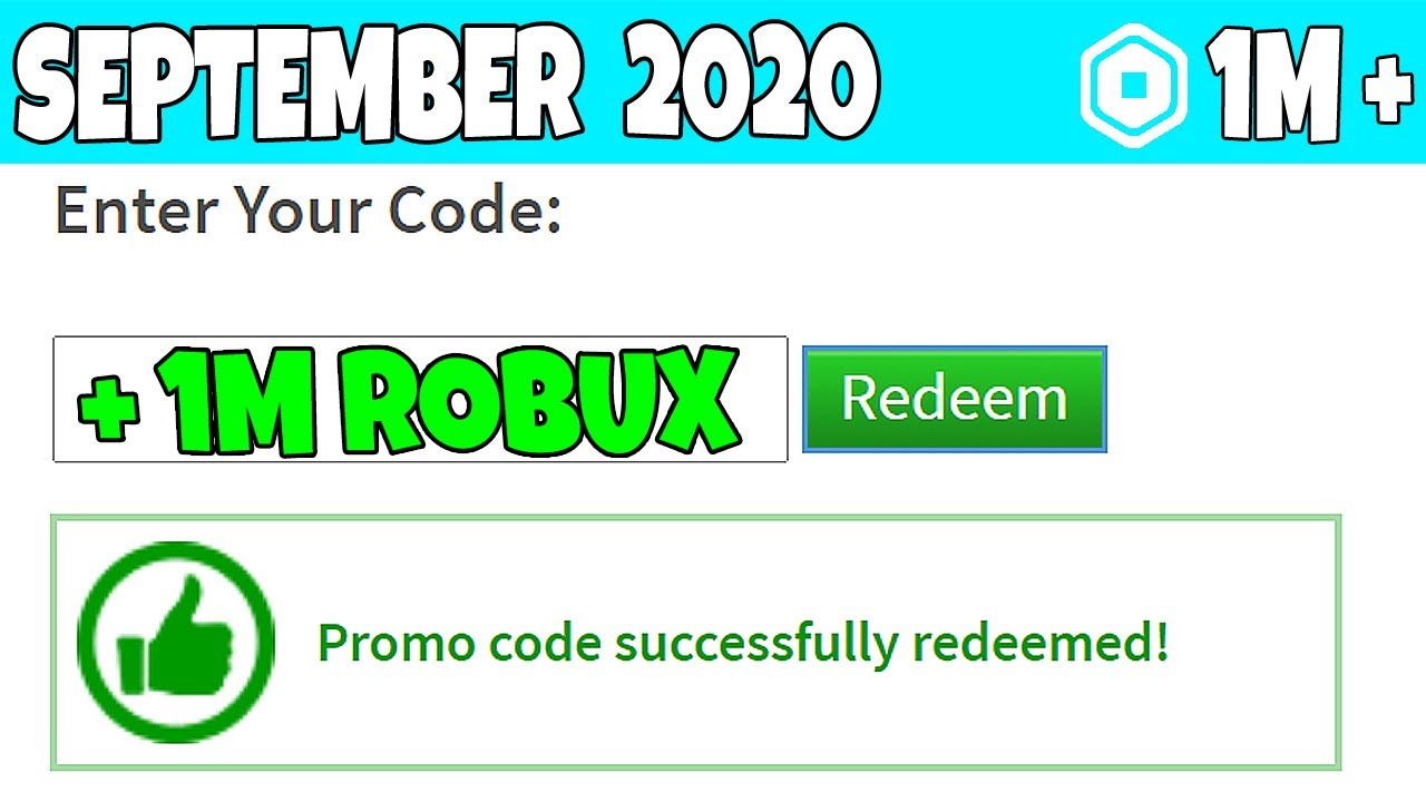 September 2020 All New Promocodes In Roblox Working Youtube