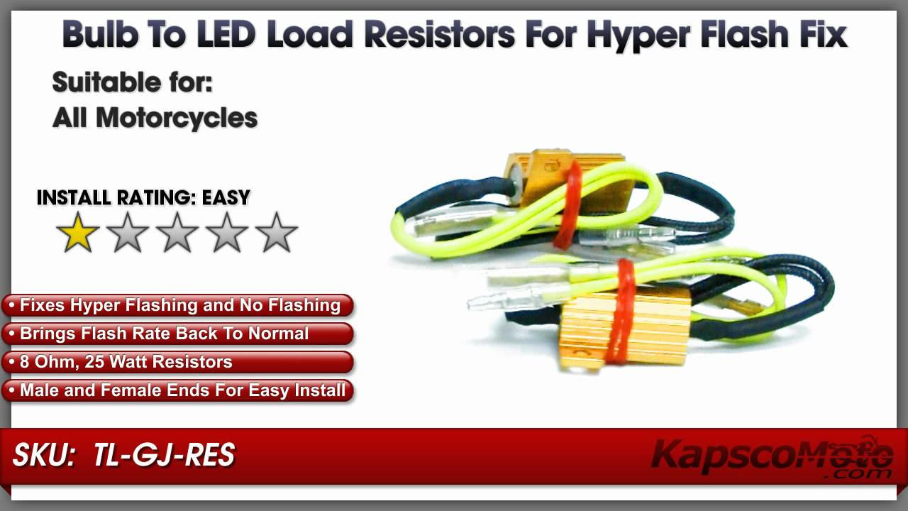 Turn Signal Hyper Flash Fix / No Flashing Fix - Bulb to LED Load ...