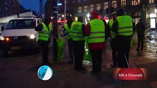 Danish Ahmadi Muslims clean the streets on New Years Day