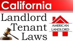 California Landlord Tenant Laws | American Landlord