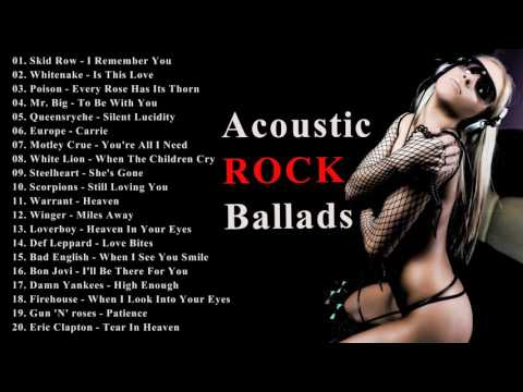 Best Acoustic Ballads 80s and 90s - Power Rock Ballads Love Songs