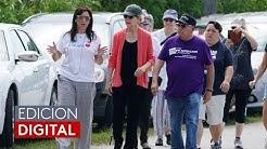Candidatos demcratas visitan refugio temporal de menores inmigrantes en Florida