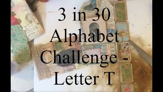 3 Items in 30 Minutes Alphabet CHALLENGE - Letter T - Tutorial
