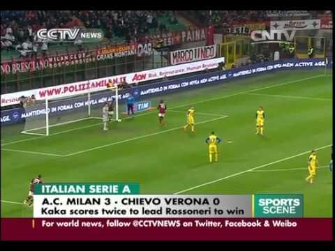 Italian serie a: kaka scores twice to lead rossoneri to win