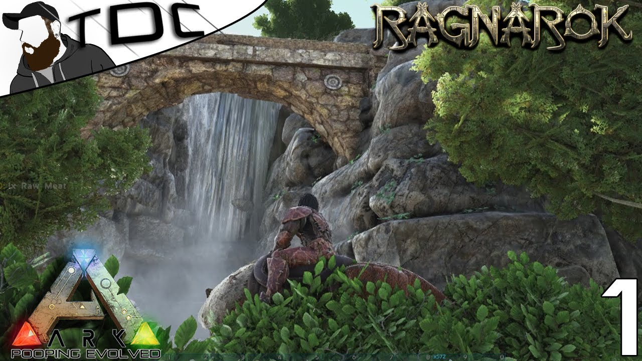 RAGNAROK ARK: SURVIVAL EVOLVED | CAVE BASE & EXPLORING! | Ep 1 (ARK  RAGNAROK GAMEPLAY)