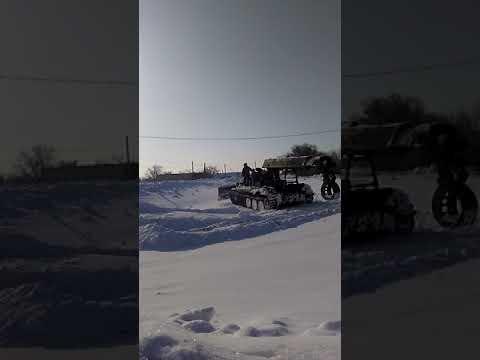Переделанный танк у нас в Новоузенском районе