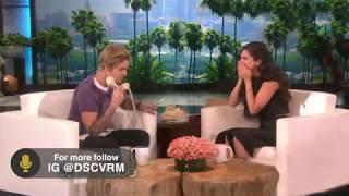 Justin Bieber And Selena Gomez on Ellen Rare time together!