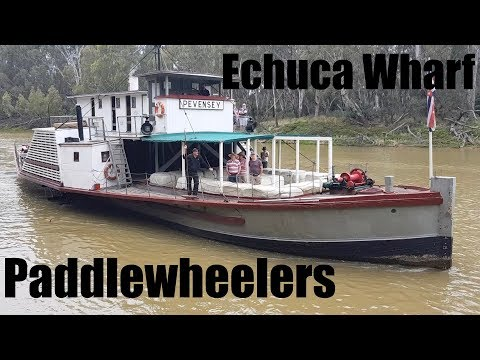 Paddlewheelers and the Port of Echuca Wharf Discovery Centre Victoria Australia