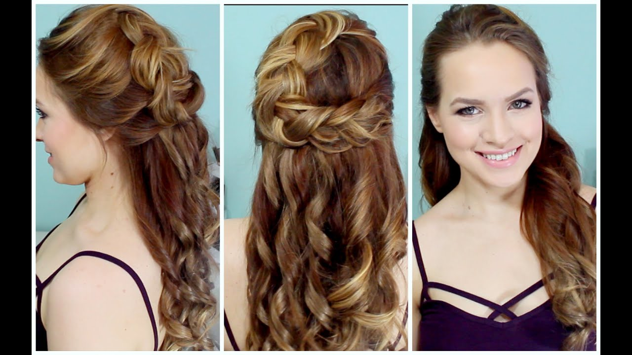 braided hairstyles for prom : Half Up Braided Hairstyle for Prom! - YouTube