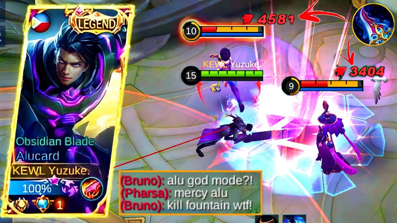 Alucard Killing Enemies In Fountain Base?!  This Build Make Alucard God Mode!  MLBB