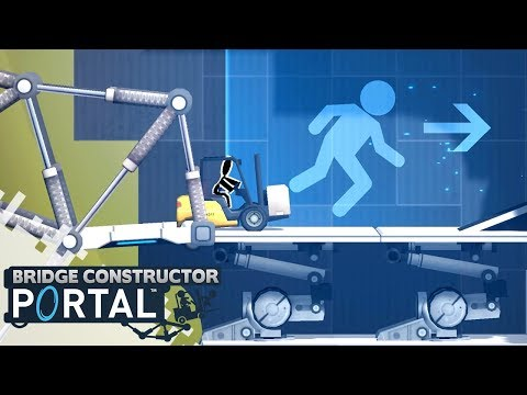 BRIDGE CONSTRUCTOR PORTAL - Level 16 to 20! (Gameplay)