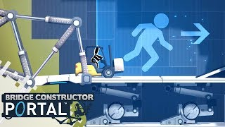 bridge Constructor Portal Lvl 16 - 20 - iOS / Android / PS4 / Steam - Walkthrough Gameplay