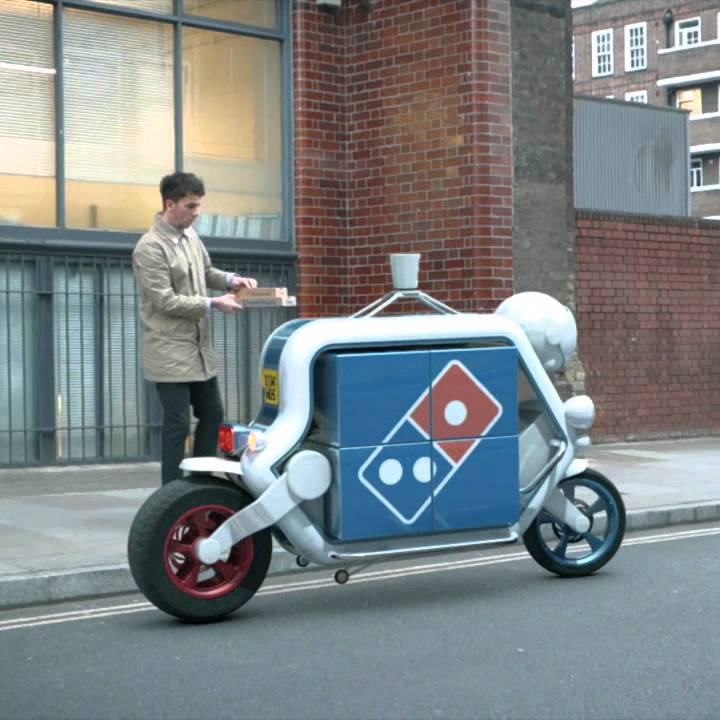 Pizza Delivery Self Driving Car