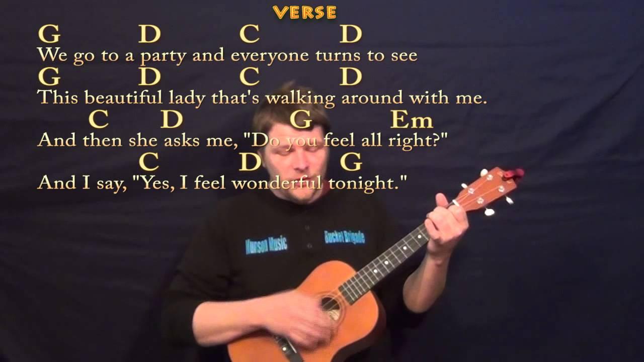 Wonderful Tonight (Eric Clapton) Easy Baritone Ukulele ...
