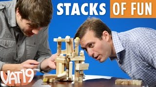 Tummple block-stacking game