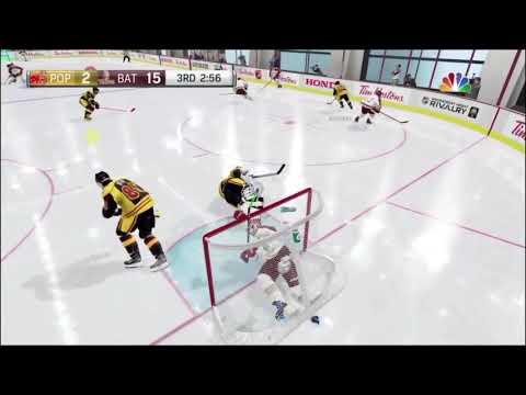 NHL 18: Player Stuck In Net!