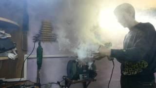 Сушка воздушного фильтра. [drying of the air filter]. МНОГО дыма.