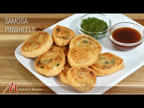 Samosa Pinwheels - Indian Gourmet Appetizer Recipe by Manjula