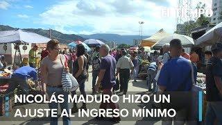 Maduro aumentó en 103% el salario mínimo en Venezuela | EL TIEMPO