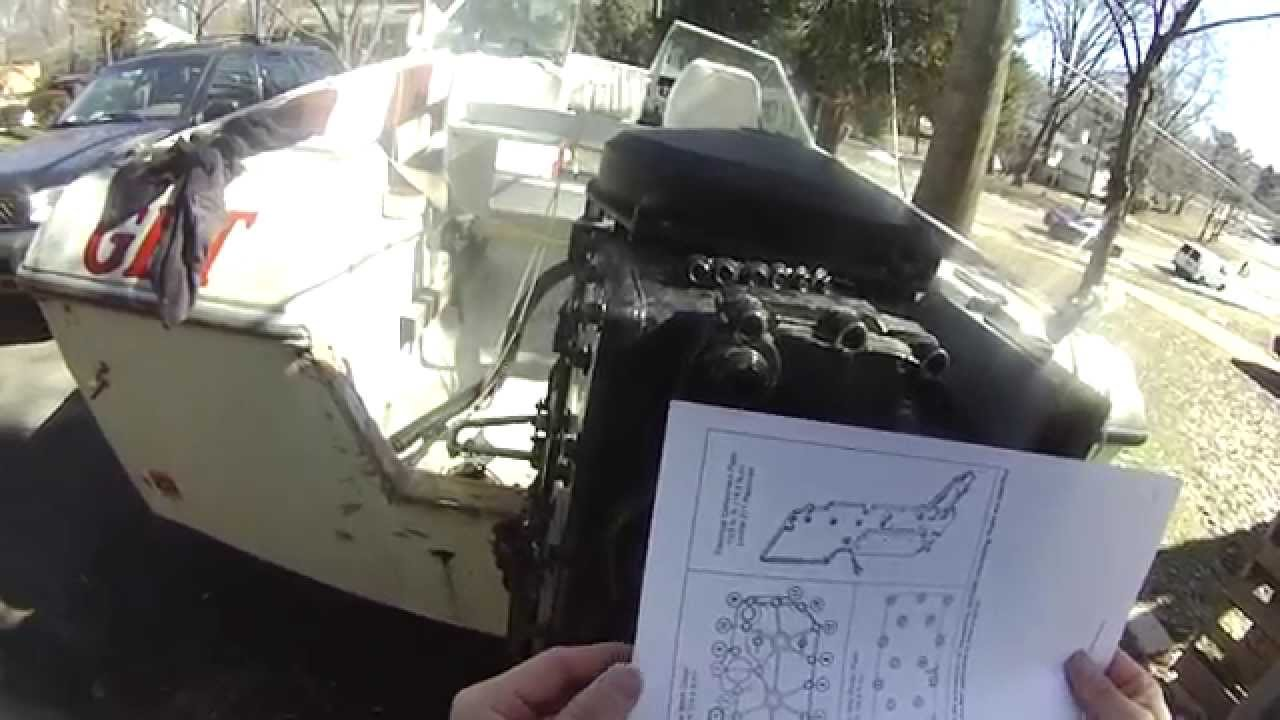 Mercury Outboard 90 Hp Tear Down Diy Outobard Rebuild Part 1 70 Evinrude Wiring Diagram Spark Plugs Removal Youtube