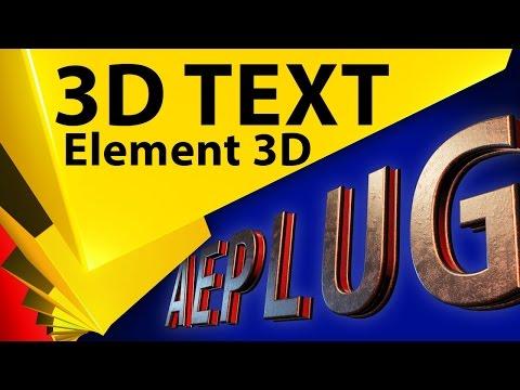 Анимация появления 3D текста в плагине Element 3D в After Effects - СТРИМ 013