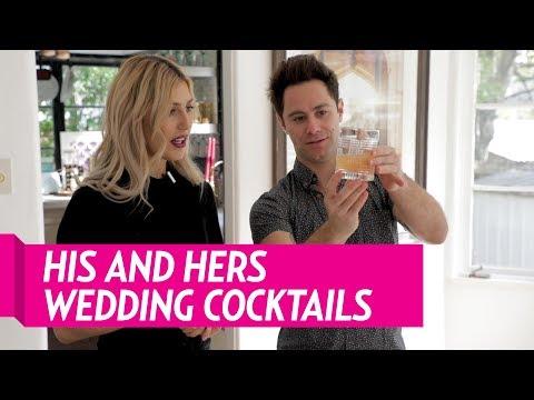 sasha farber and emma slater make his and hers wedding cocktails