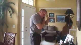 US Soldier Returning Home from Kuwait Surprises Father-in-Law