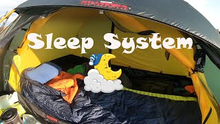 A sleep system f๐r a warm and comfortable night camping